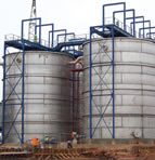 Site built tanks made from 316L stainless steel